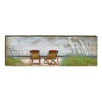 """10"""" x 60"""" Ocean Beach Chairs Plaque"""
