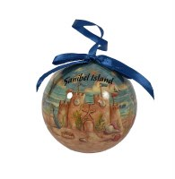 "3"" Sanibel Island Sandcastle Ball Ornament"