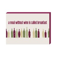 """10 x 14"""" A Meal Without Wine Wood Plaque"""