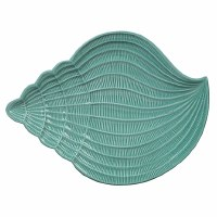 """11"""" Turquoise Conch Shell Platter"""