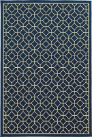 """1' 9"""" x 3' 9"""" Blue and Gold Riviera Rug"""