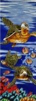 """16"""" x 6"""" Sea Turtle Trio Tile"""