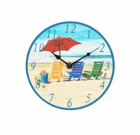 "7"" Round Beachy Keen Clock"