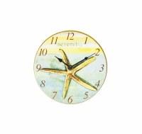 """7"""" Round Serenity Starfish Clock"""