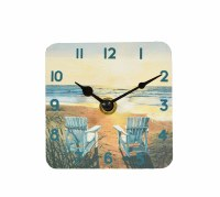 """4"""" Square Days End Clock"""