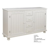 "54"" White Two Door Aruba Cabinet"