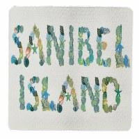 "4"" Square Sanibel Island Shell Coaster"