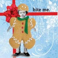 "5"" Square Bite Me Holiday Paper Beverage Napkins"
