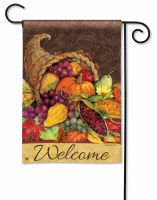 "18"" x 12"" Mini Thanksgiving Harvest Garden Flag"