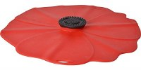 """13"""" Red Silicone Poppy Flower Lid"""