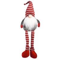 "18"" Gray & Red Nose Santa Plush"