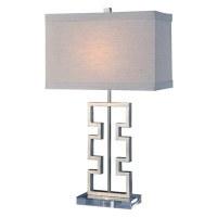 "27"" Silver Geometric Bar Lamp"