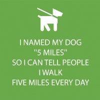 "5"" Square Named My Dog Five Miles Beverage Napkins"