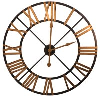 "36"" Black & Gold Openwork Clock"