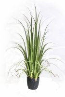 """48"""" Potted Green Artificial Gladiolus Grass"""
