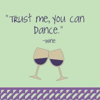 "5"" Square Trust Me Dance Beverage Napkins"