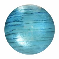 "3"" Turquoise and Blue Striped Glass Orb"