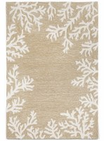 5 ft. x 7 ft. 6 in. Neutral Coral Border Rug