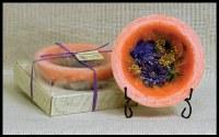 "7"" Round Pink Island Coral Wax Bowl"