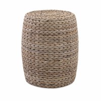 "15"" Round Woven Banana Leaf Stool"