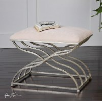 """24"""" Small Silver 'X' Bench"""