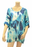 """34"""" Large Ocean Celebration Poly-Chiffon Cover Up"""