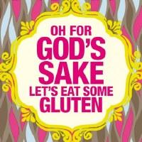 """5"""" Square Let's Eat Some Gluten Paper Beverage Napkins"""
