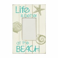 "4"" x 6"" Worn White 'Life's Better' Picture Plaque Frame"
