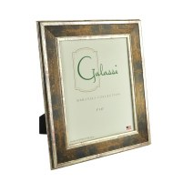 "8"" x 10"" Bronze and Distressed Silver Finish Photo Frame"