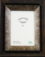 """3"""" x 5"""" Distressed Bronze and Silver Finish Bevelled Photo Frame"""