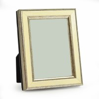 "2"" x 3"" Cream and Silver Galassi Photo Frame"