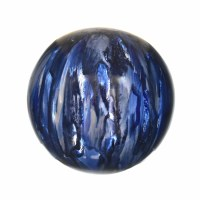 "5"" Blue and White Quiet Storm Glass Orb"