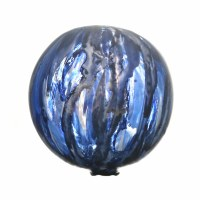 "3"" Blue and White Quiet Storm Glass Orb"