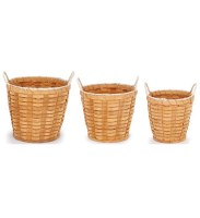 """10"""" Large Natural Woven Handled Planter"""