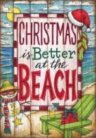 """18"""" x 12"""" Mini Christmas At The Beach Flag"""