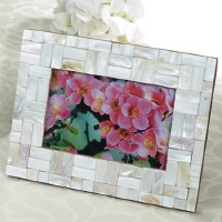 """5"""" x 7"""" Mother of Pearl Rectangle Mosaic Photo Frame"""