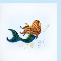 """6"""" x 6"""" Quilling Mermaid Greeting Card"""