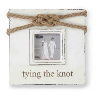 """3"""" x 3"""" Tying the Knot Rustic Rope Accent Photo Frame"""