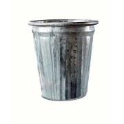 """8"""" Whitewashed Galvanized Metal Pot"""
