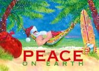 "6"" x 8"" Box of 18 Santa in Hammock Christmas Greeting Cards"