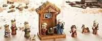 "8"" Set of 11 Miniature Children's Nativity Scene Figurines"