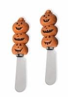 Set of 2 Carved Pumpkin Spreaders