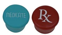 Set of 2 Medicate and RX Wine Bottle Caps