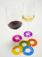 Set of 6 Glasswhere Slogans Wine Glass Markers