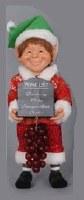 "10"" Elf with Wine List Figurine"