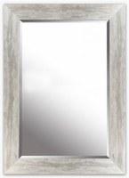 "40"" x 30"" Silver Framed Beveled Mirror"