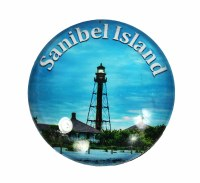 Sanibel Island Lighthouse Glass Magnet