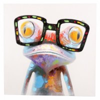 """40"""" x 40"""" Hipster Froggy Canvas"""