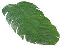 """16"""" x 30"""" Green Monstera Leaf Table Runner"""
