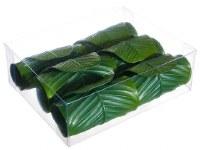 """3"""" Box of 6 Green Banana Leaf Rings"""